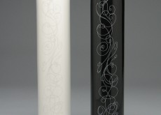 Black, white vases